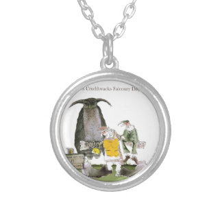 love yorkshire falconry display silver plated necklace