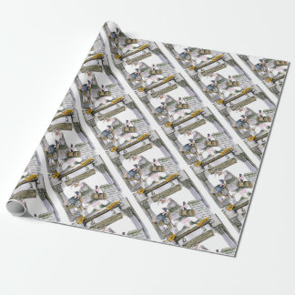 love yorkshire flat fish wrapping paper