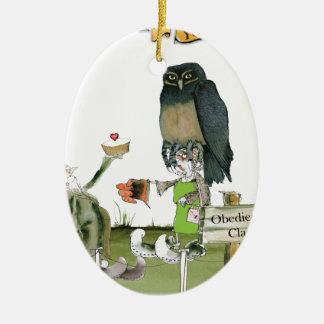 love yorkshire obedience class ceramic ornament