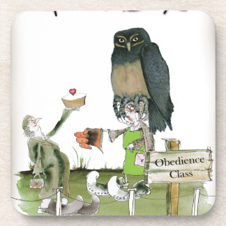 love yorkshire obedience class coaster