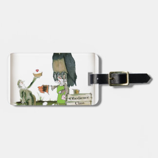 love yorkshire obedience class luggage tag
