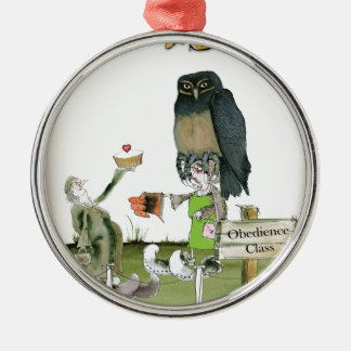love yorkshire obedience class metal ornament