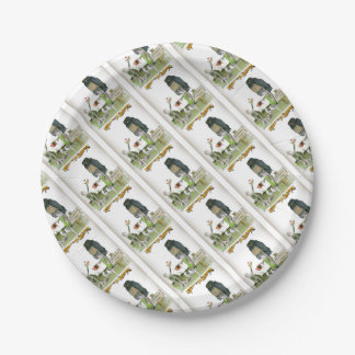 love yorkshire obedience class paper plate