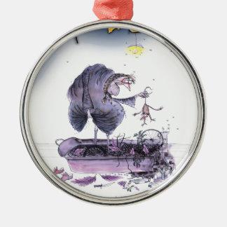love yorkshire ol' ma ferret metal ornament