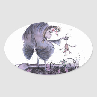 love yorkshire ol' ma ferret oval sticker