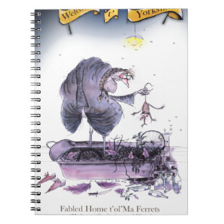 love yorkshire ol' ma ferret spiral notebook