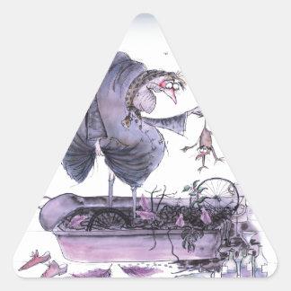 love yorkshire ol' ma ferret triangle sticker
