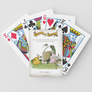love yorkshire sausage maker bicycle playing cards
