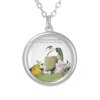 love yorkshire sausage maker silver plated necklace