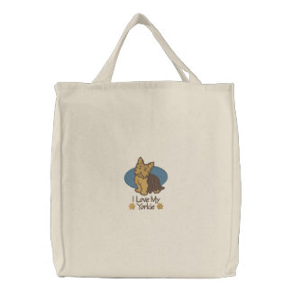 Love Yorkshire Terrier Canvas Bags