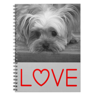 Love Yorkshire Terrier Puppy Dog Notebook Journal