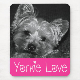 Love Yorkshire Terrier  Puppy Mousepad