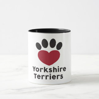 Love Yorkshire Terriers mug