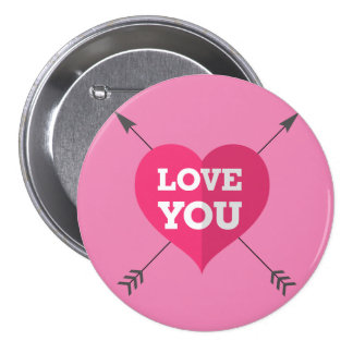 Love You 3 Inch Round Button