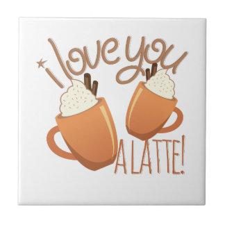 Love You A Latte Ceramic Tiles