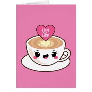 Love You A Latte EMoji Card