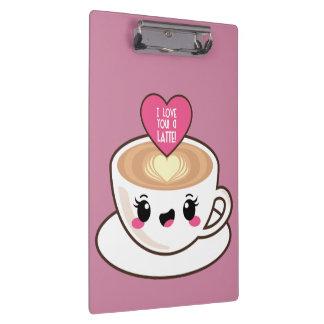 Love You A Latte EMoji Clipboard