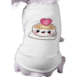 Love You A Latte EMoji Pet Shirt