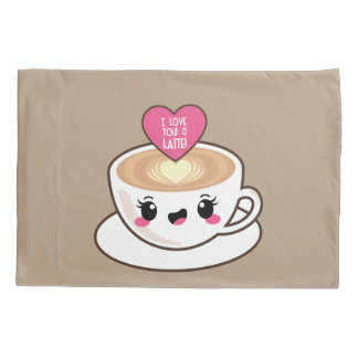 Love You A Latte EMoji Pillowcase