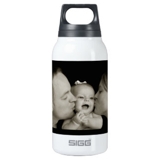 'Love you Baby' Hot & Cold (0.3L), White Insulated Water Bottle