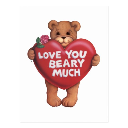 Love You Beary Much products Postcard