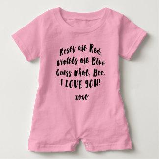 Love you Boo Poem babysuit Baby Romper