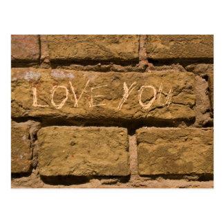 love you_bricks postcard