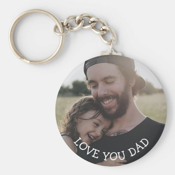 Love you Dad, Personalized Photo Key Chain