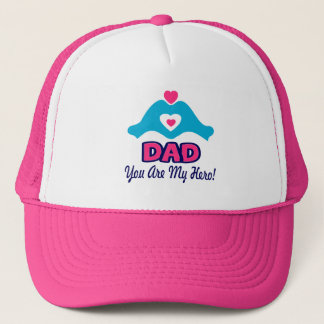 ❤↷Love You Dad, You are My Hero Chic & Stylish Trucker Hat