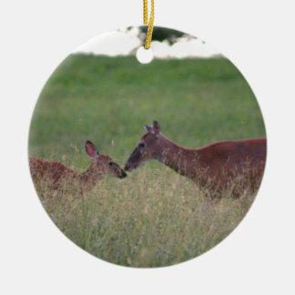 Love you deer ceramic ornament