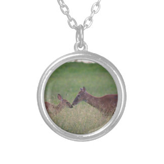 Love you deer silver plated necklace