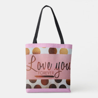 """Love You Forever"" All-Over-Print Tote Bag"