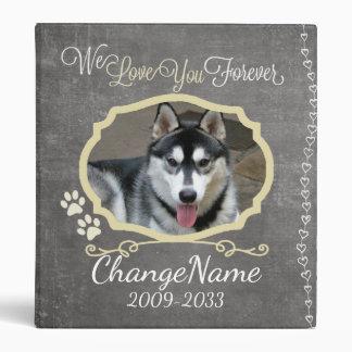 Love You Forever Dog Memorial Keepsake Binder