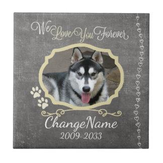 Love You Forever Dog Memorial Keepsake Ceramic Tiles