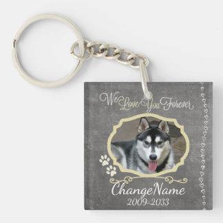 Love You Forever Dog Memorial Keepsake Keychain