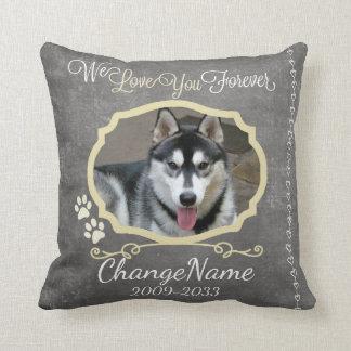 Love You Forever Dog Memorial Keepsake Throw Pillow