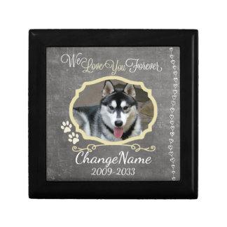 Love You Forever Dog Memorial Keepsake Trinket Box