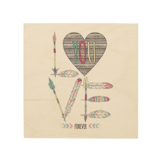 Love You Forever Native American Wood Wall Art
