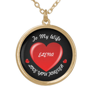 Love You Forever Necklace for Wife Custom Name