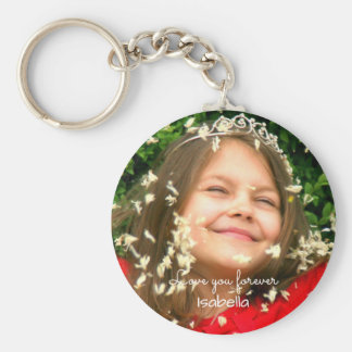 Love you Forever | your photo and name Keychain