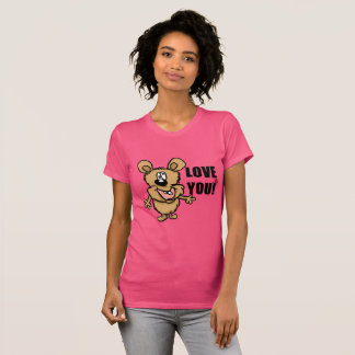 Love you fun cartoon character t-shirt