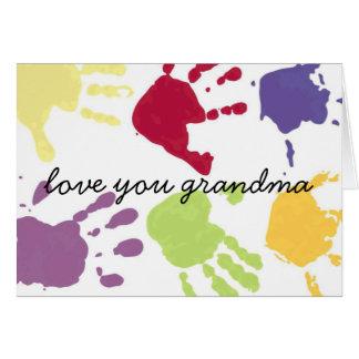 Love You Grandma Happy Birthday Card