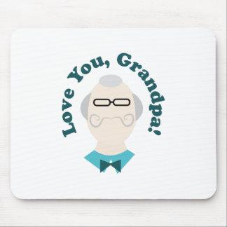 Love You Grandpa Mouse Pad