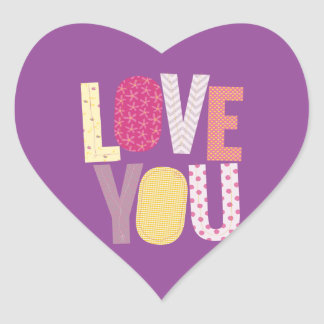 Love You Heart Sticker