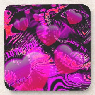 Love You Hearts Coaster