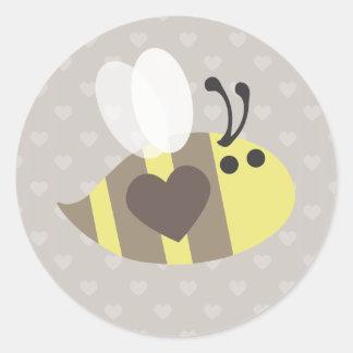 Love you honey! classic round sticker