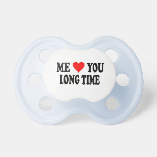 Love You Long Time Boy Pacifier