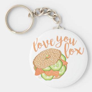 Love You Lox Basic Round Button Keychain