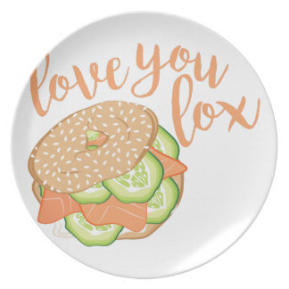 Love You Lox Party Plates