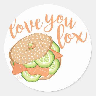 Love You Lox Round Sticker